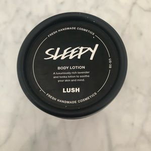 "Lush ""sleepy"" body lotion"